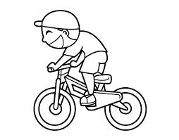 Resultado De Imagen Para Niño En Bicicleta Con Casco Para Colorear
