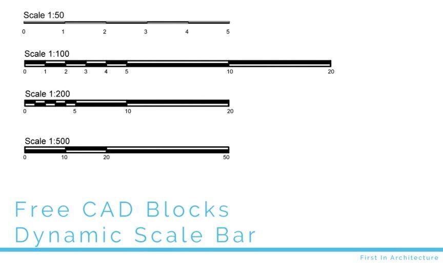 FIA Free CAD Block – Dynamic Scale Bar | สถาปนิก | Cad