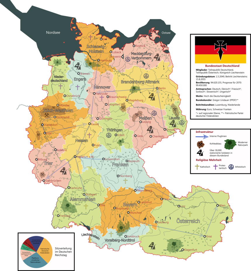 My new map who Germany , Austria and Liechtenstein forming a ...