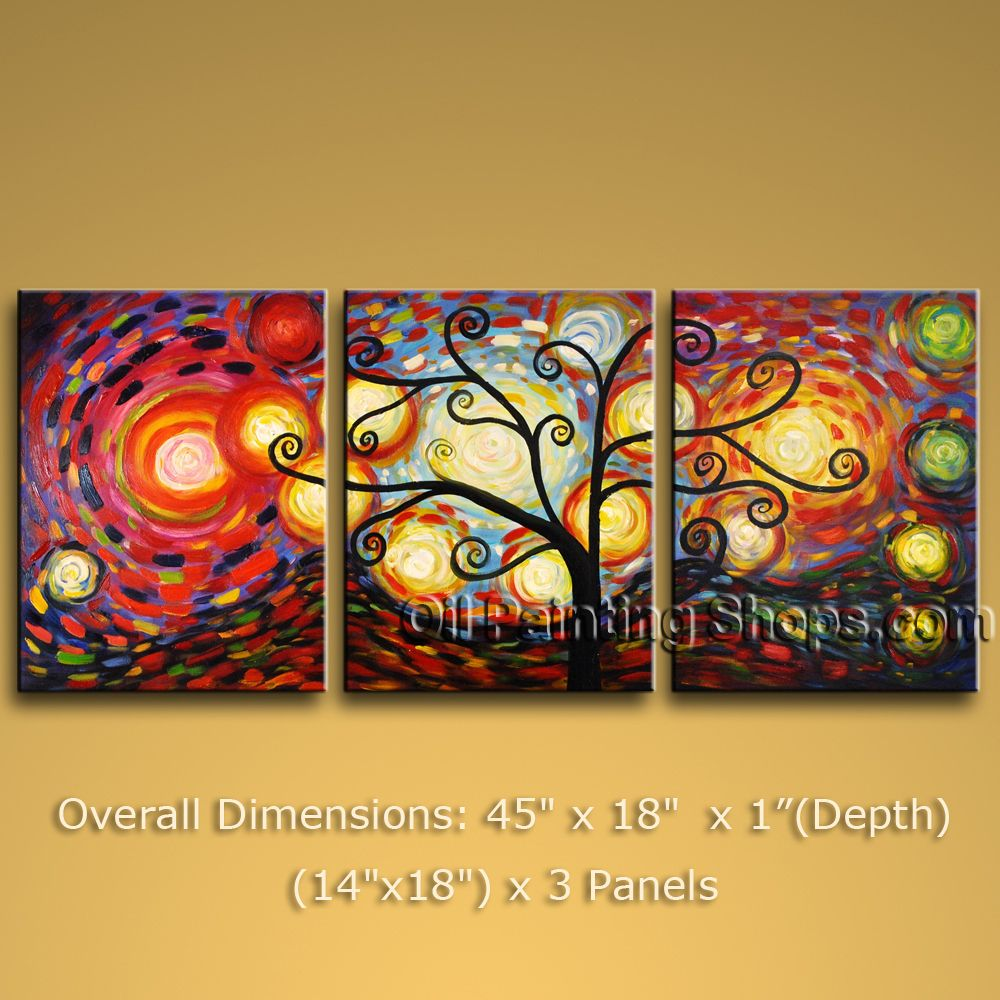 Hand Painted Beautiful Modern Abstract Painting Wall Art Oil On ...