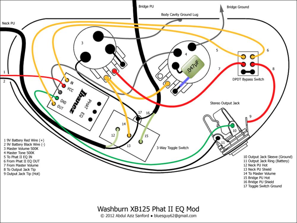 Washburn Xb125 Phat Ii Eq Mod Telecaster Guitar Forum Washburn Phat Mod