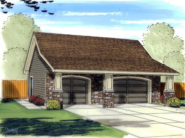 Craftsman   Traditional   Garage Plan 41139