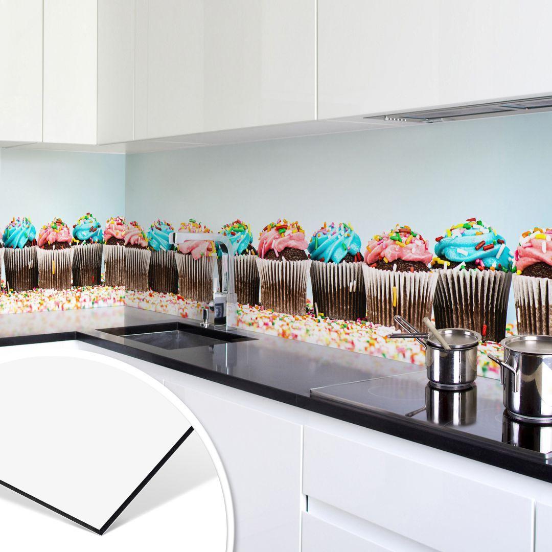 Kuchenruckwand Alu Verbundplatte Kuchenspiegel