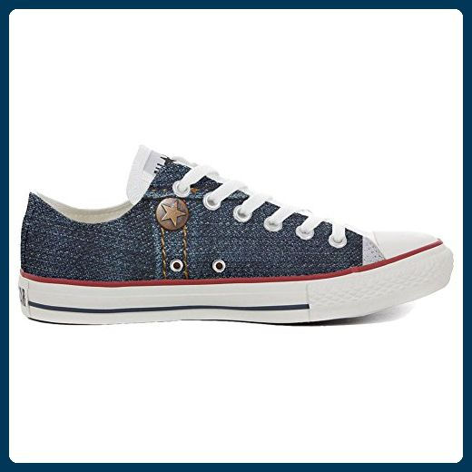 Converse All Star Slim personalisierte Schuhe (Handwerk Produkt) Green Skull  41 EU