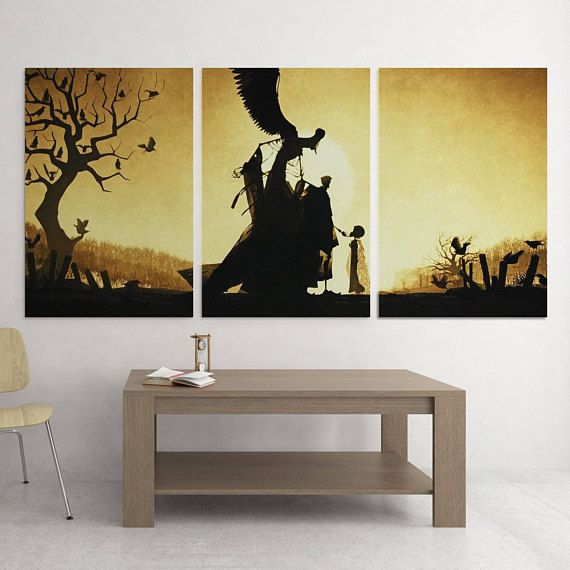 The Tale of The Three Brothers 3 Piece Canvas Harry Potter | wanna ...