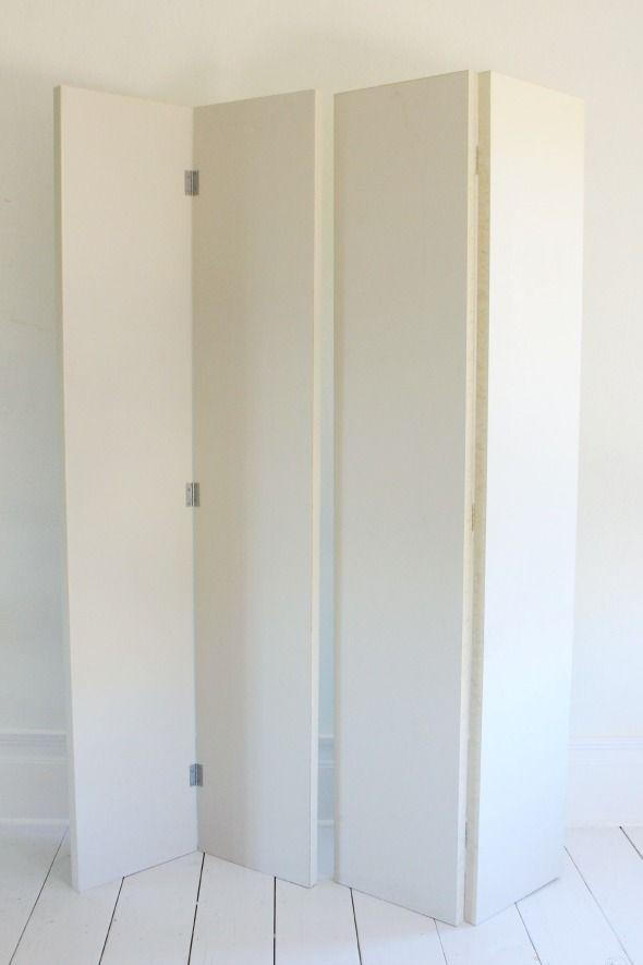 DIY Folding Screen from Bifold Doors
