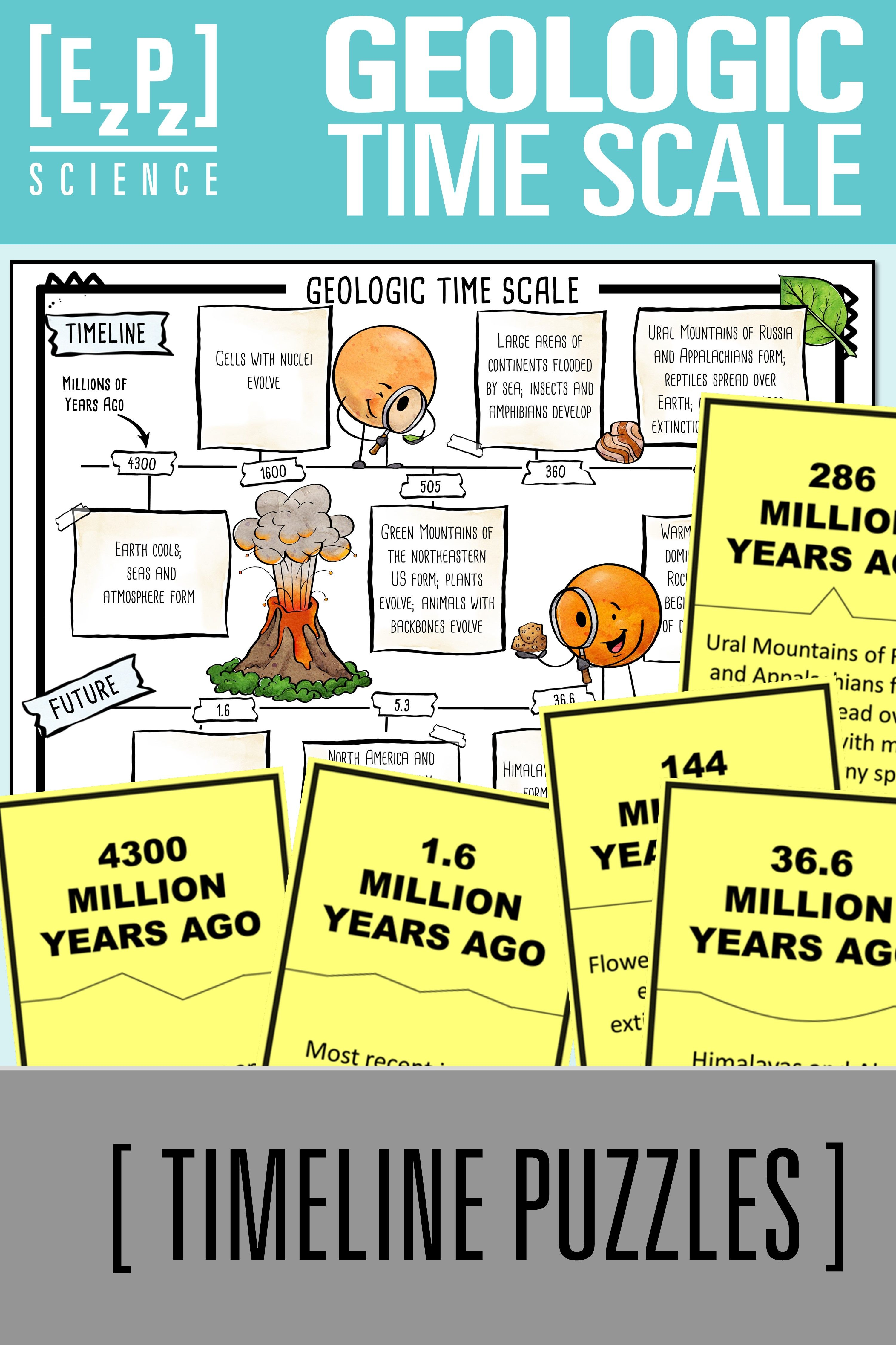 Geologic Time Scale Science Puzzles