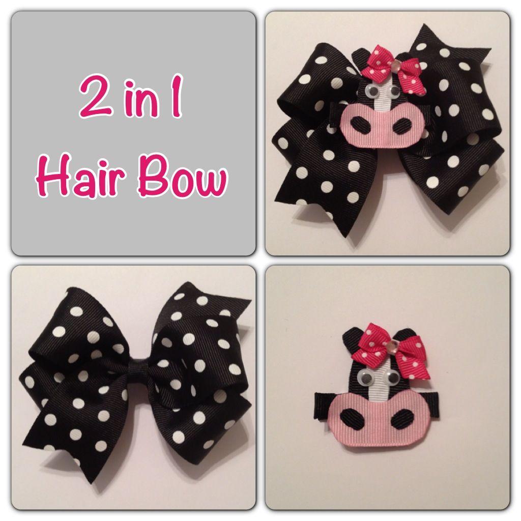 hair bow bows diy