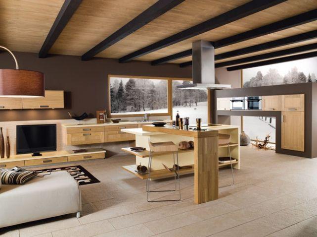 Modèle déco cuisine chaleureuse | Maison | Pinterest | Living spaces ...