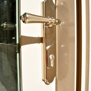 Door Hardware Levers Omnia Polished Nickel