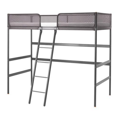 TUFFING Loft bed frame, dark gray | Loft bed frame, Bed frames and Lofts