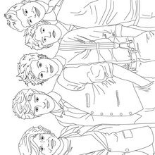 ONE DIRECTION Coloring pages : 6 free online coloring