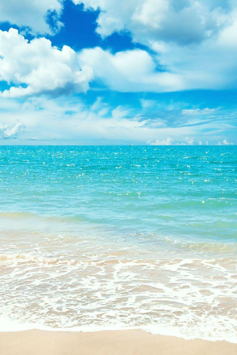 Summer Beach Ocean Wallpaper Beach Wallpaper Blue Wallpaper Iphone