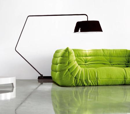Sofa L Form Grün
