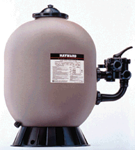 Hayward Pro Series Sand Filter w/Side Mount Valve S210S and Larger The Pro Series sand filter comes with a side mount 6 position multiport valve. For inground pools, above ground pools, and inground spa's. The tank has a 1 year tank warranty.