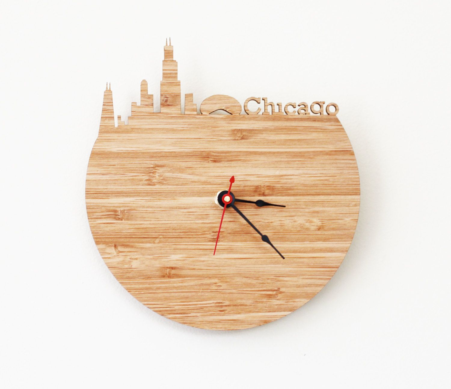 Chicago Clock - Wall clock - Cloud Gate - Victory Monument ...