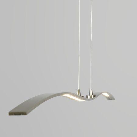 L mpara colgante curve acero preciosa l mpara de techo - Lamparas colgantes minimalistas ...