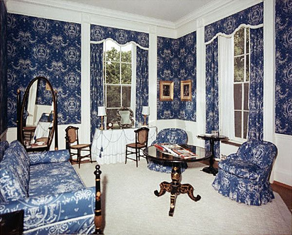 the queens' sitting room in 1963 after the kennedy
