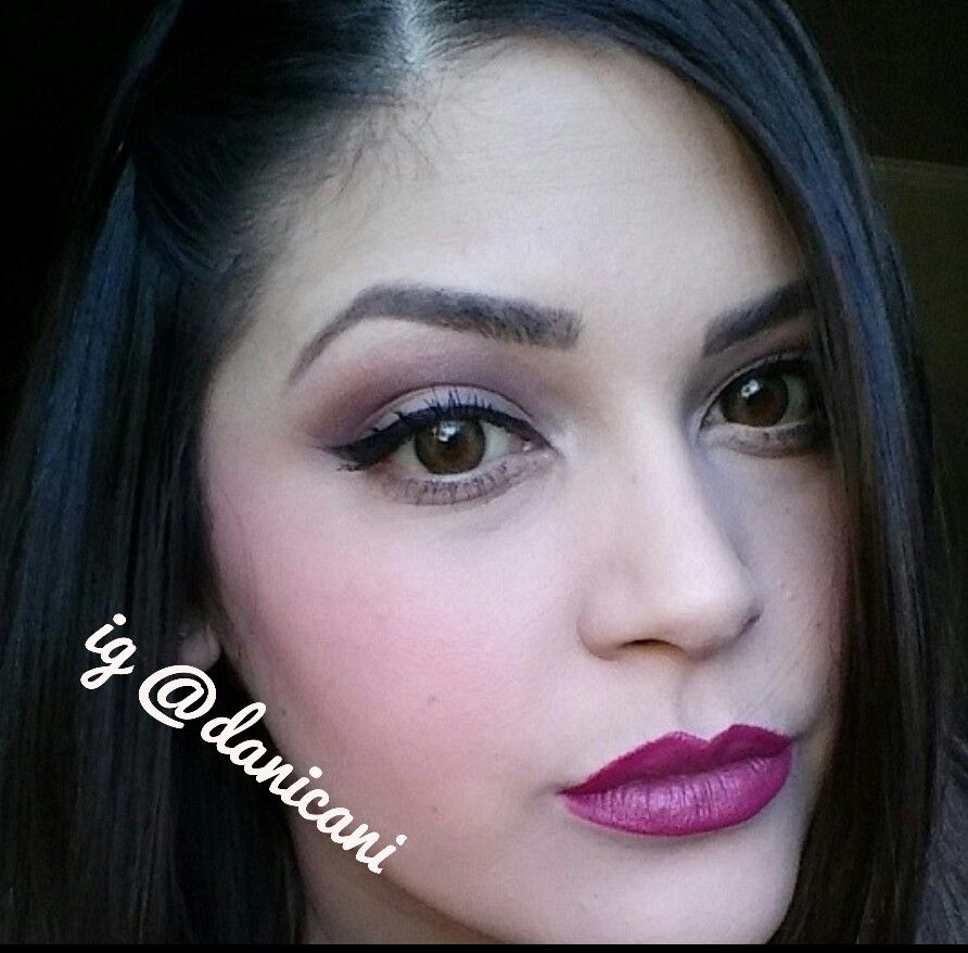 Fall makeup using milani lipstick in plumrose and the day ...