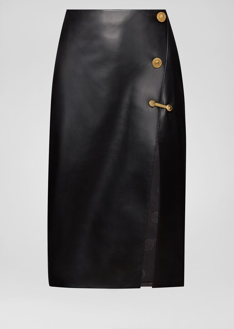 Versace Nappa Leather Pencil Skirt for Women | Online Store EU