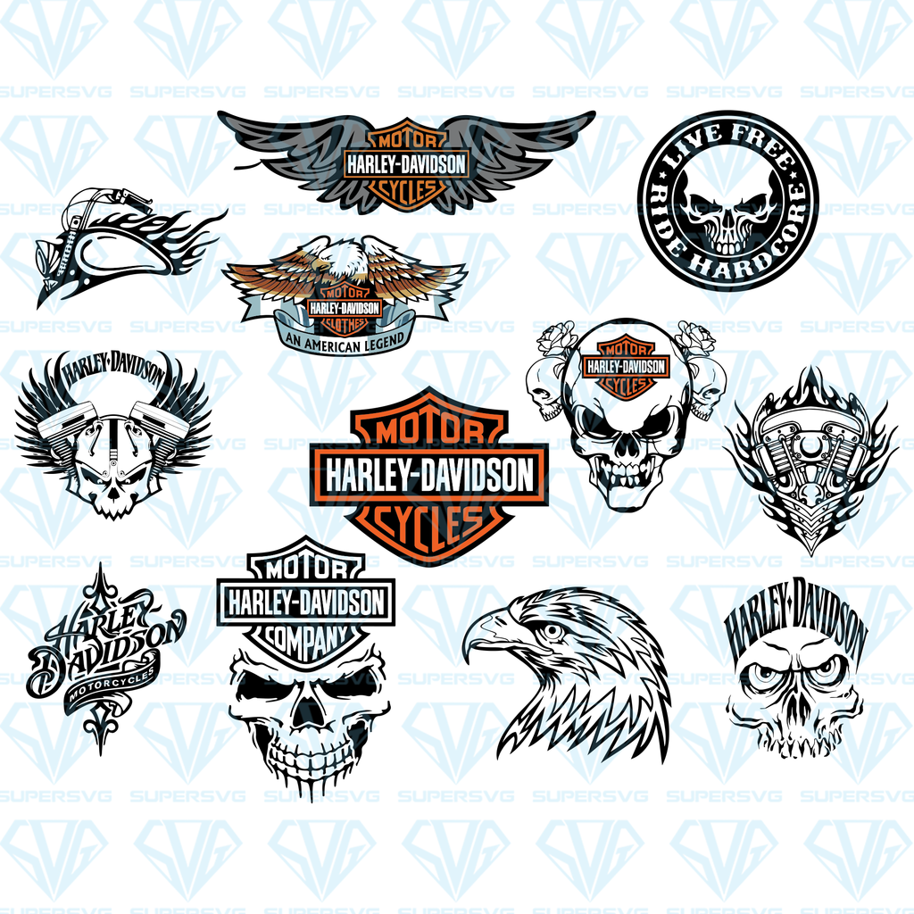 Harley Davidson Logos Bundle Svg Files For Silhouette Files For Cricut Svg Dxf Eps Png Instant Download Supersvg Harley Davidson Logo Harley Davidson Decals Harley Tattoos [ 1024 x 1024 Pixel ]