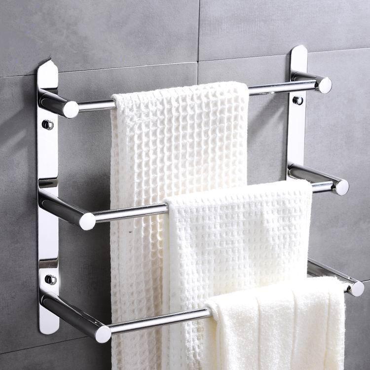 2021 Rustproof 304 Stainless Steel Three Layers Towel Bars Towel Rack Mirror Finished Hand Polishing Bathroom Accessories 40cm 50cm 60cm 70cm From Desirehardw Towel Rack Modern Towels Bathroom Towel Bar