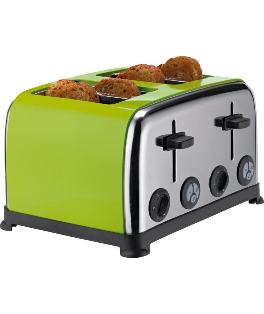 Buy ColourMatch Stainless Steel 4 Slice Toaster Apple Green at
