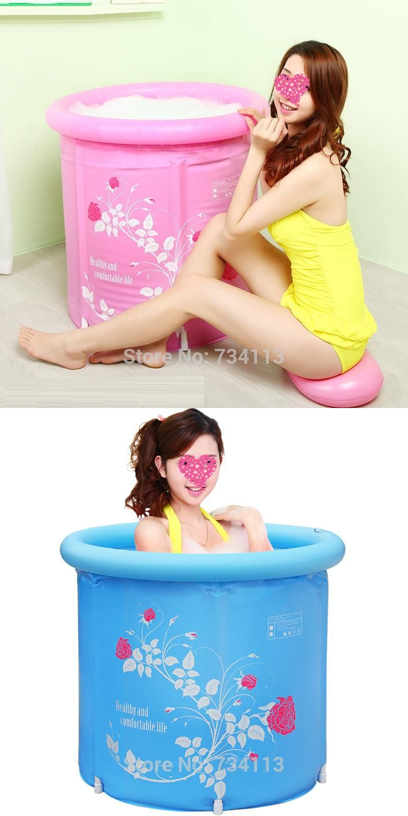 Inflatable tub folding barrel plastic inflatable adult children\'s ...