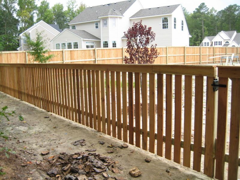 Wood Fence Styles Ft Cedar Picket With Top Cap Wood Fence
