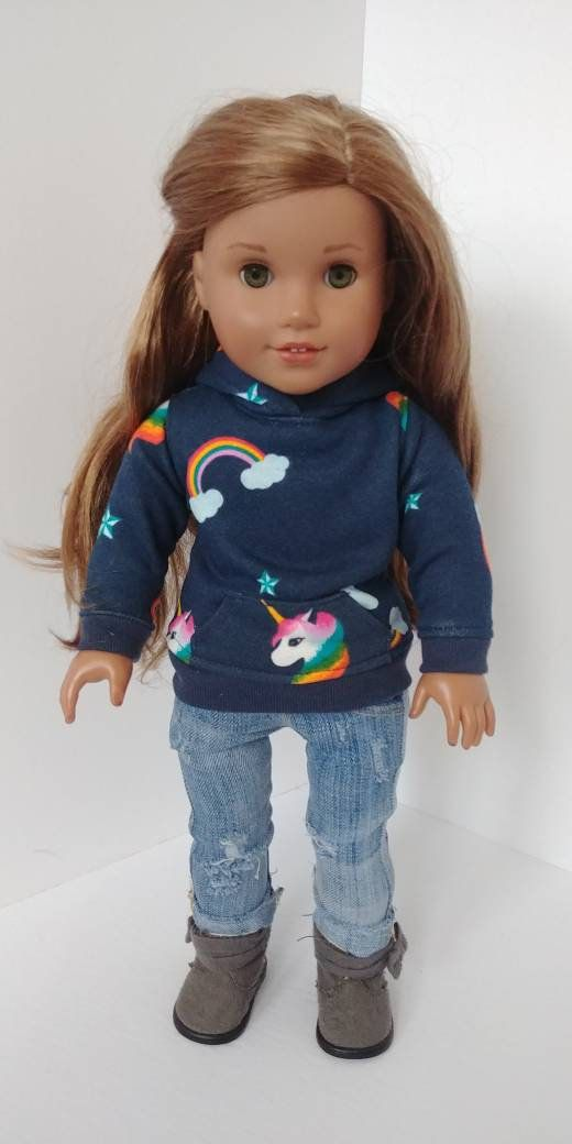 Fits like American girl doll clothing. 18 inch doll clothes. 18 doll clothing . Hoodie