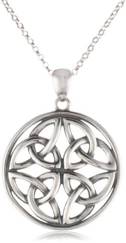 Sterling silver celtic knot round pendant necklace 18 amazon sterling silver celtic knot round pendant necklace 18 amazon curated collectionhttp mozeypictures Image collections