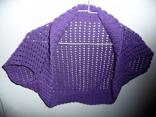 "Pattern for Crochet Version of Ribbed ""Lace"" Bolero | Blusen ..."