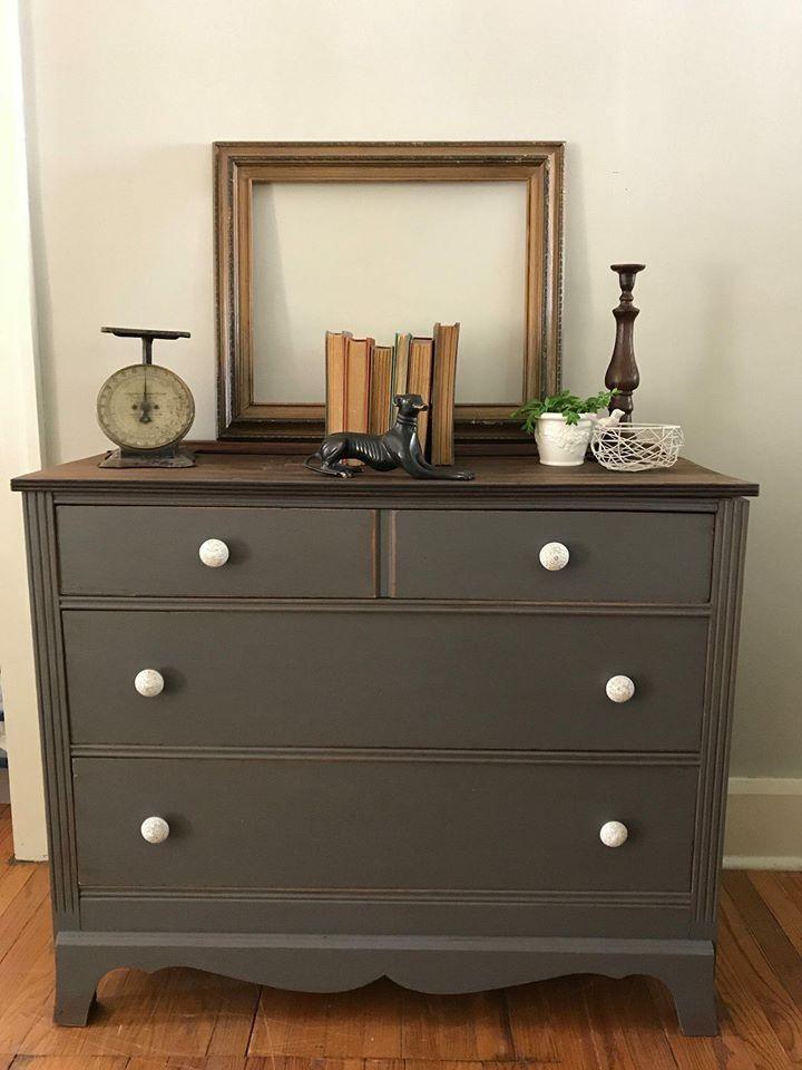 Solid Maple Dresser in Driftwood Milk Paint Fix It Up