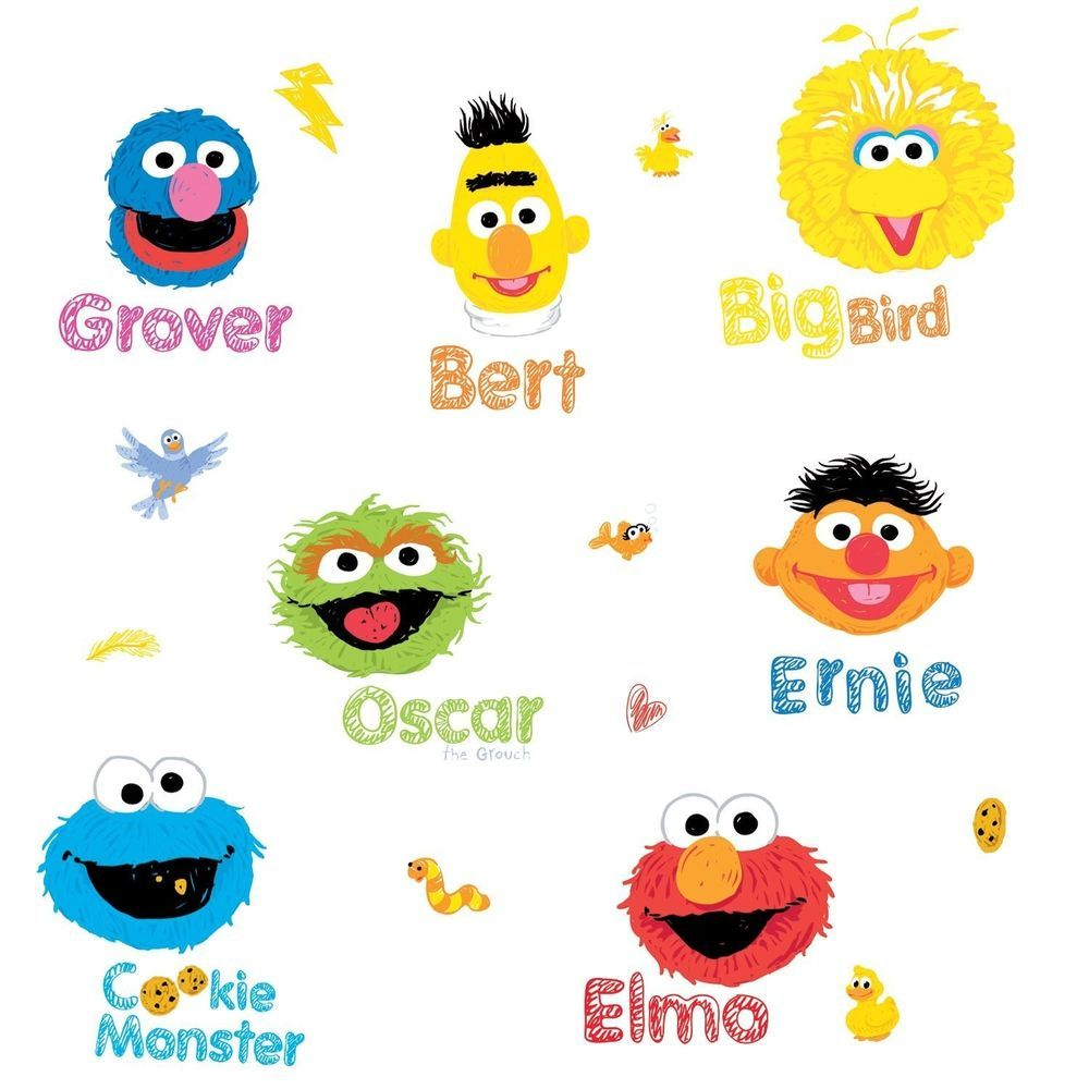 It's just a picture of Adorable Printable Sesame Street Characters
