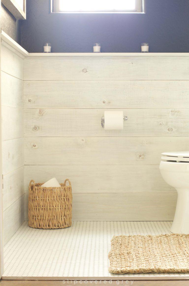 How To Whitewash Wood Easy Tutorial Wood Wall Bathroom