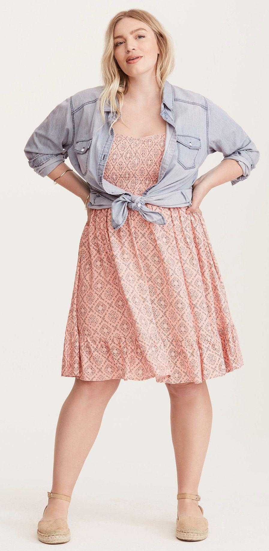 Plus Size Challis Dress   ropa q yo me pondria para gorditas ...
