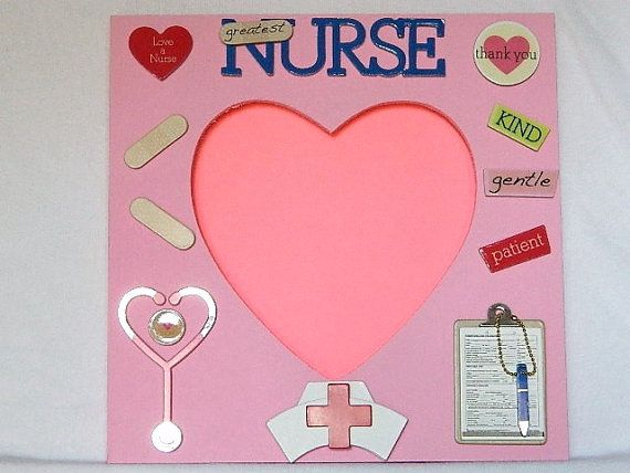 Nurse Picture Photo Frame Gift Medical Pink Heart Por Saralee29 20