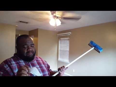How To Clean A Popcorn Ceiling Without Water Or Cleaning Products   YouTube