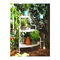 Pflanzenständer Metall Blumen Regal Treppe Podest Etagere Für 9 Blumentöpfe Weiß