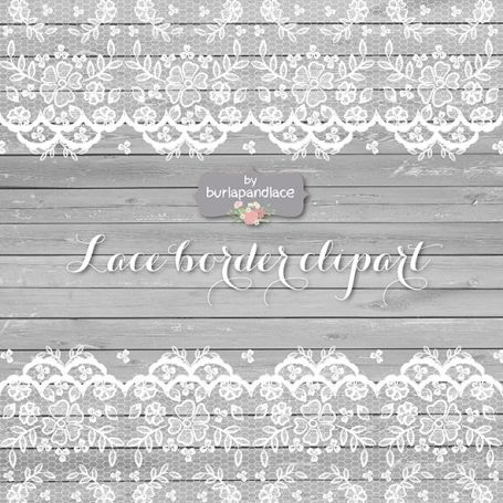 Lace Border Rustic Wedding
