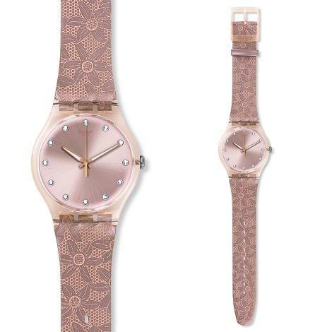 montre femme swatch bracelet cuir