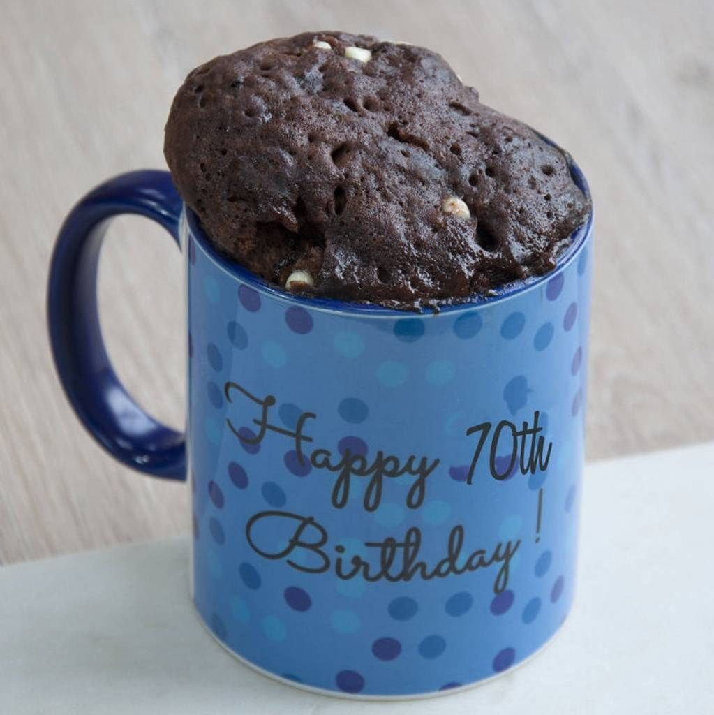 21 Elegant Picture Of Birthday Cake In A Mug Happy 70th Gift Set Lily Grace Baking DiyBirthdayCake