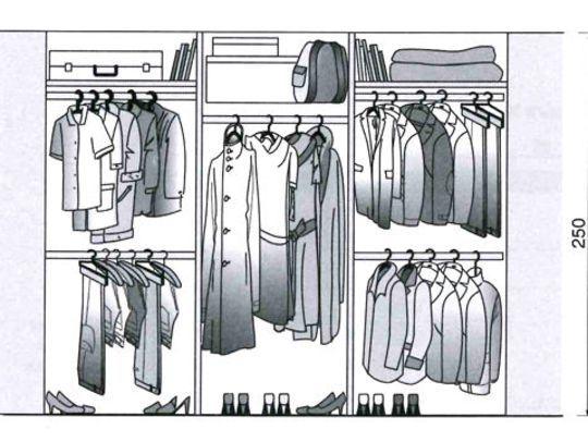 dimension dressing dimension placard tous nos plans pour dessiner votre dressing ou placard. Black Bedroom Furniture Sets. Home Design Ideas