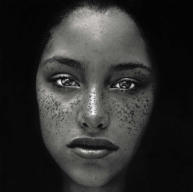 Freckles photography by irving penn