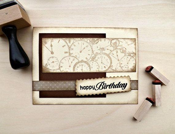 HAPPY BIRTHDAY CARD for Him Handmade by UnaMattinaDiAprile on Etsy, €4.10