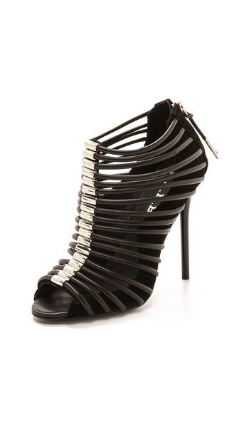 L.A.M.B. Walcot Cage Sandals Available in Blk Size 10 at The Walk In Closet - Jones