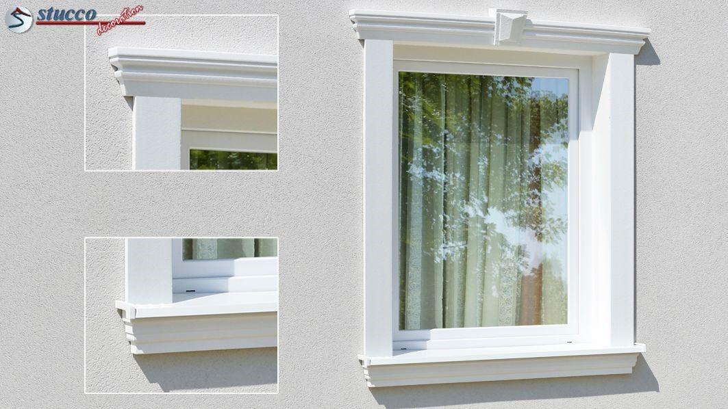 Ideen Zur Dezenten Und Schlichten Fassadengestaltung Fensterumrandung Mit Styroporstuck Stuckleisten Fassadenp Stuckleisten Fassadengestaltung Fensterumrandung