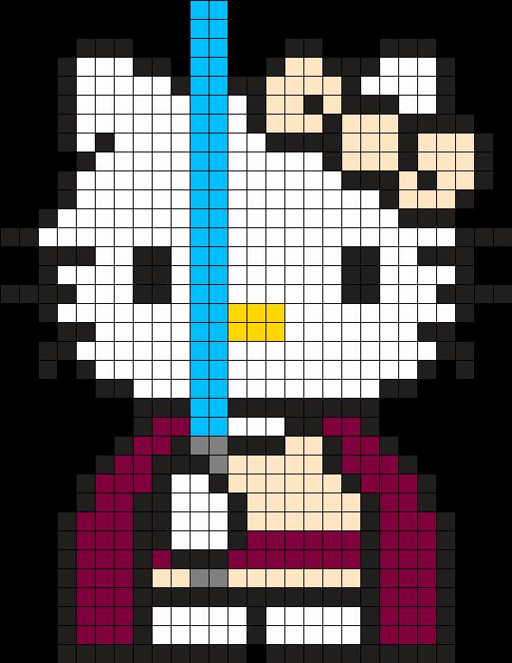 Jedi Star Wars Hello Kitty Perler Bead Pattern | Bea | Pinterest ...