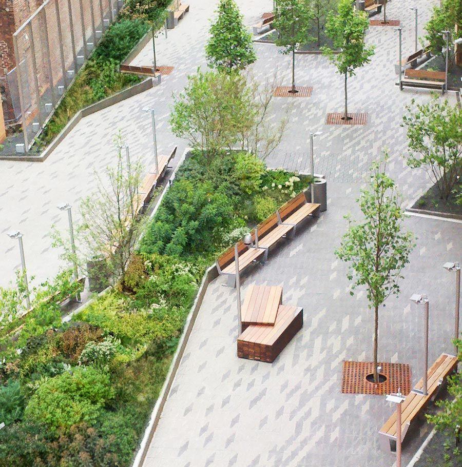 Beekman plaza james corner field operations o u t d o for Urban garden design