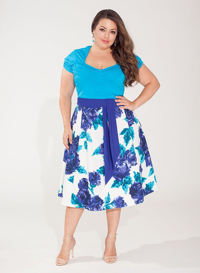 Esther Plus Size Casual Dress In Heliotrope From The Plus Size